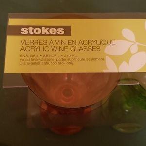 Stokes acrylic wine glasses